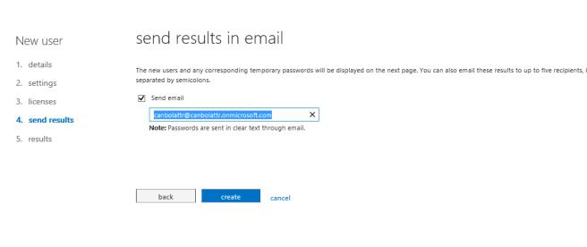send results